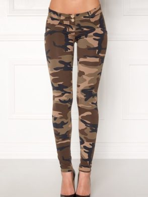 FREDDY WR.UP Shaping - Camouflage Pattern Cotton -Shaping Effect - Low Waist - Skinny