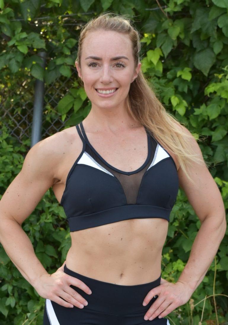 1ed5ef5329 OXYFIT Bra Top Season 27133 Black White- Sexy Workout Bra - Cute Yoga Top