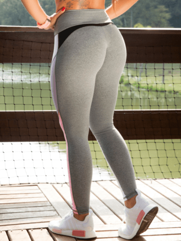OXYFIT Leggings Shade 64119 Jersey/White- Sexy Workout Leggings