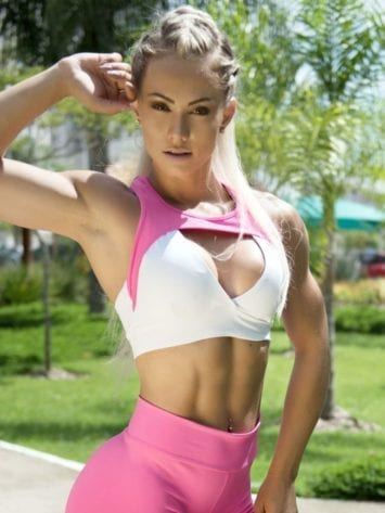 BOMBSHELL BRAZIL Sports Bra JUJU PINK -Sexy Workout Top