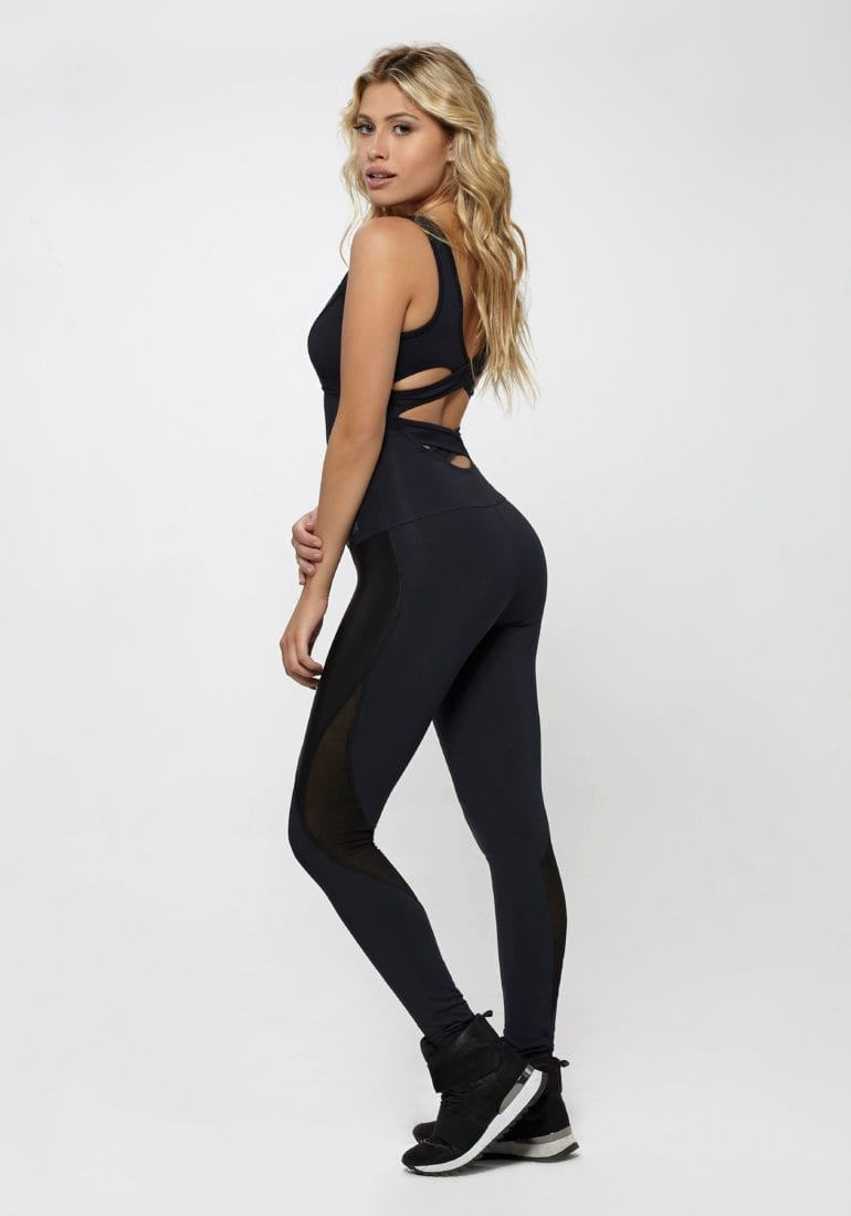 OXYFIT Jumpsuit Unbroken 15210 Black - Sexy Rompers, Cute Workout 1-Piece