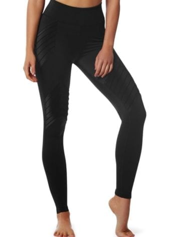 L'URV Leggings NEW BEGINNINGS MOTO Leggings Sexy Workout Tights Black