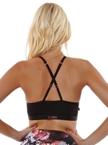 L'URV Sports Bra A THOUSAND STARS Bra Sexy Workout Top Black