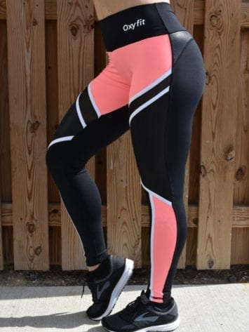 OXYFIT Leggings Ease 64114 Black Peach – Sexy Workout Leggings