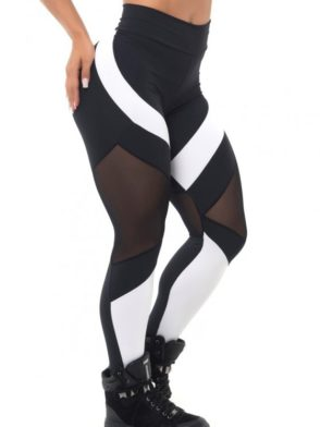 BFB Activewear Leggings Body Power Mescla – black & white – Sexy Leggings