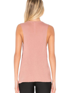 ALO Yoga Tidal Muscle Tank -Sexy Yoga Tanks -Workout Tops Rosewater