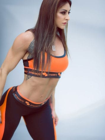 DYNAMITE Sports Bra Top T206 Top Swimmer Cirre Tangerine-Sexy Tops