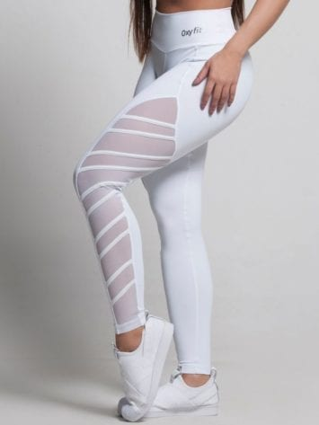 OXYFIT Leggings Thunder 64151 White- Sexy Workout Leggings