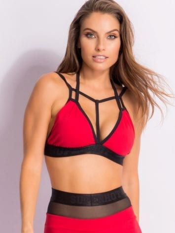 SUPERHOT Bra Top1547 Sexy Workout Tops-Cute Yoga Sport Bra