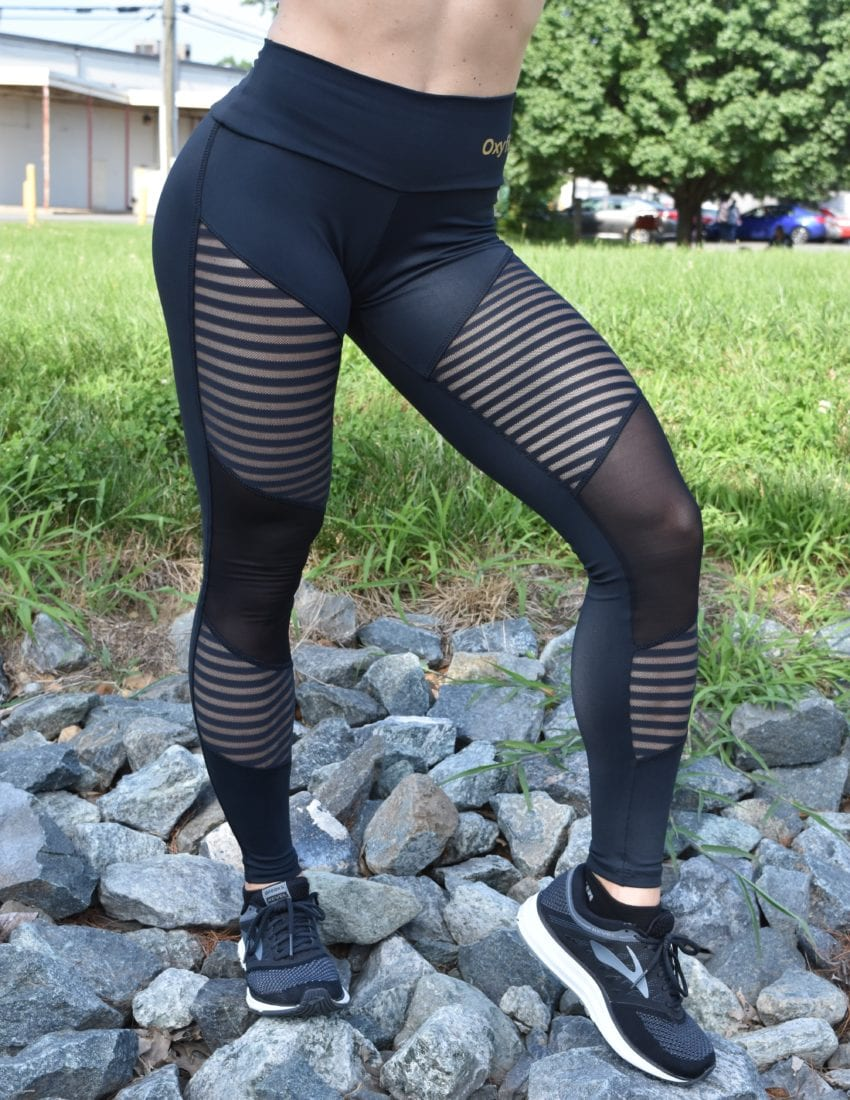 OXYFIT Leggings Contour 64040 BK- Sexy Workout Leggings