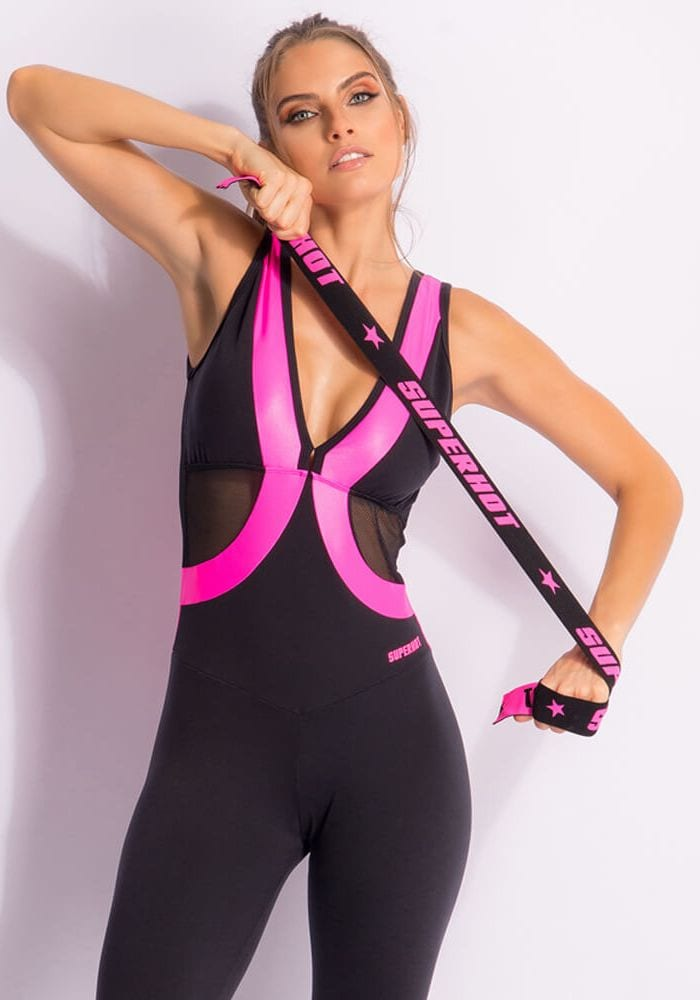 SUPERHOT MAC1617 Sexy Workout Long Jumpsuit- Romper -One-Piece