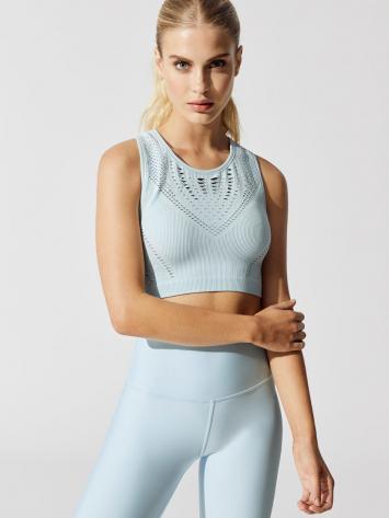 ALO Yoga Lark Crop Top -Sexy Yoga Tops – Powder blue heather