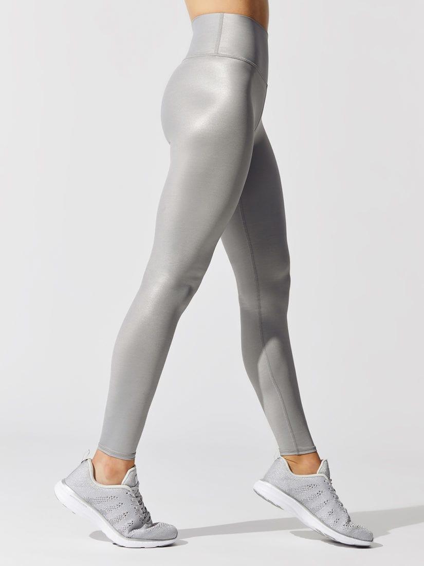 ALO Yoga High Waist High-Waist Shine Legging - Lead Shine